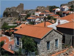 Hora - the capital of Samothraki Island: typical houses