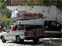 Samothraki Island: Lakoma Village - mobile fruit market