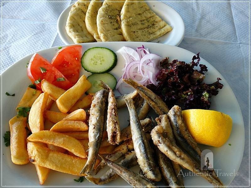 Thassos Island - Skala Prinos: the first fish dish – sprat