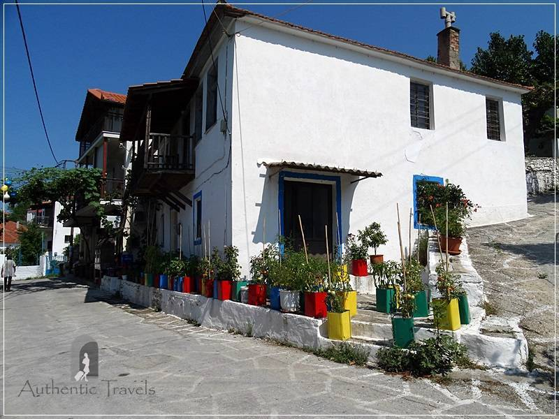 Thassos Island - Agios Georgios Village: colorful street