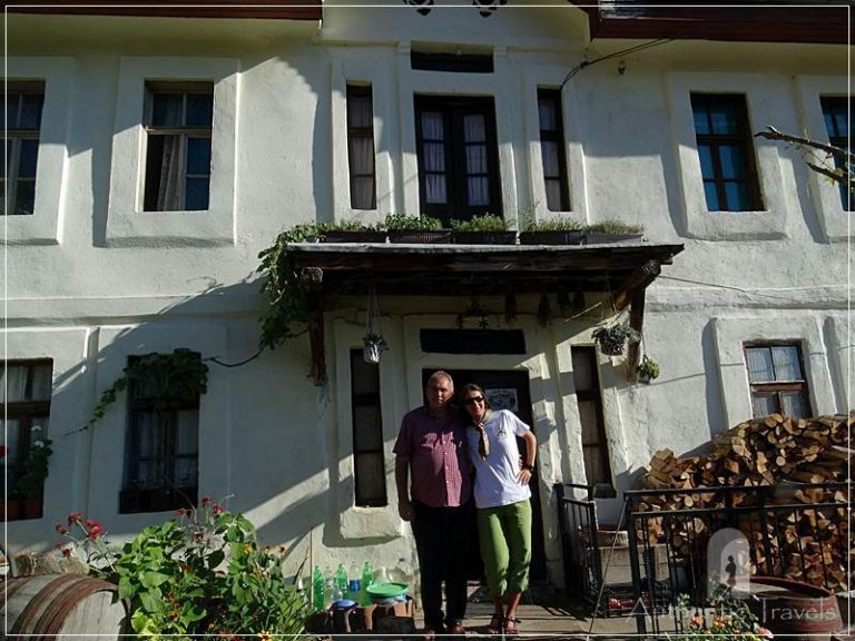 Etno House Shancheva - with Stevce Donevski in front of his guesthouse from Kratovo