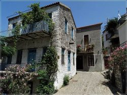 Traditional houses in Hora, Samothraki Island
