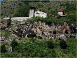 Zrze Monastery - built on a vertical cliff