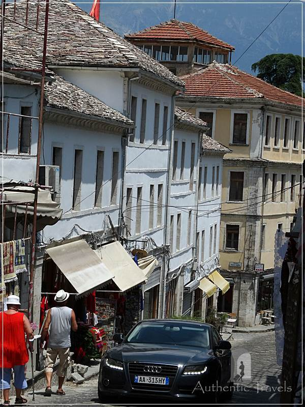 Gjirokastra - the main street of the New Bazaar