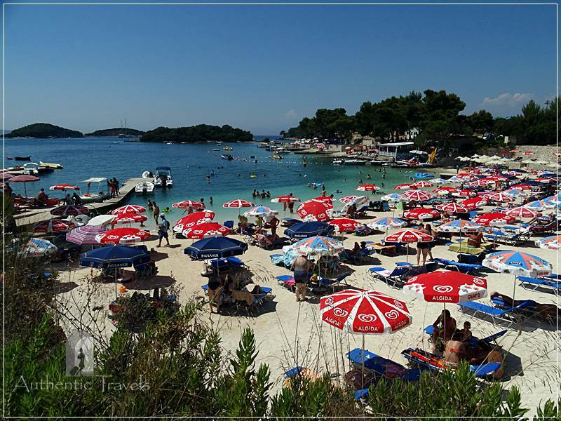 """Ksamil - one of the beaches overlooking the """"three islands of Ksamil"""""""