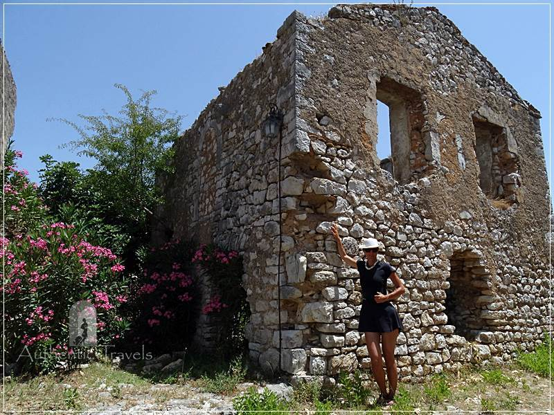 Himare - the ancient fortress: an old stone church inside the fortress