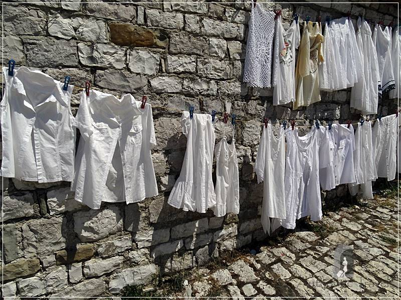 Berat Castle - hand made traditional clothing
