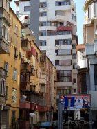 Tirana - Blloku Quarter: communist buildings with flats