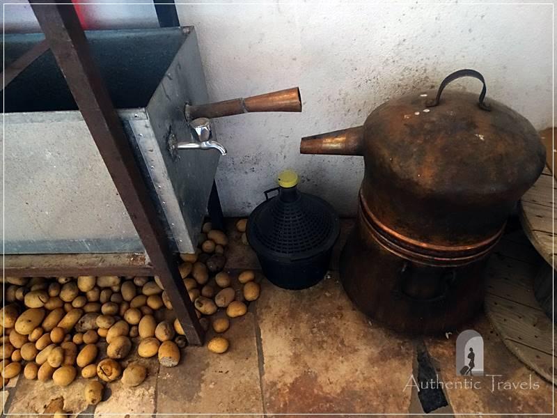 Camping Tirana - installation for making rakija, very strong alcoholic drink