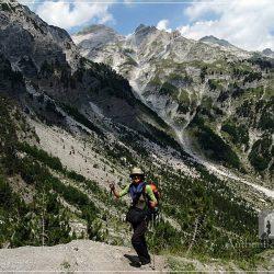 Trek Valbona Theth: on the way to Valbona Pass (Qafa e Valbonës)