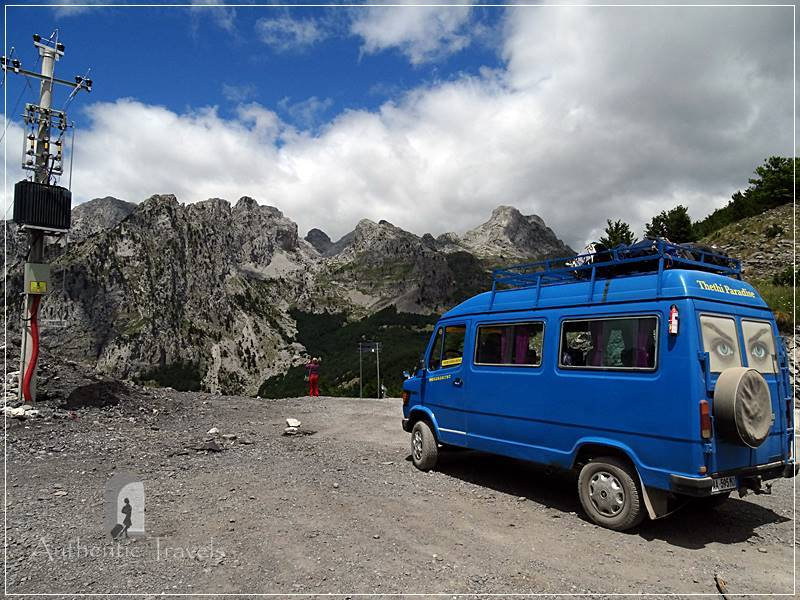 Mini-bus from Theth to Skhodër - crossing the Albanian Alps