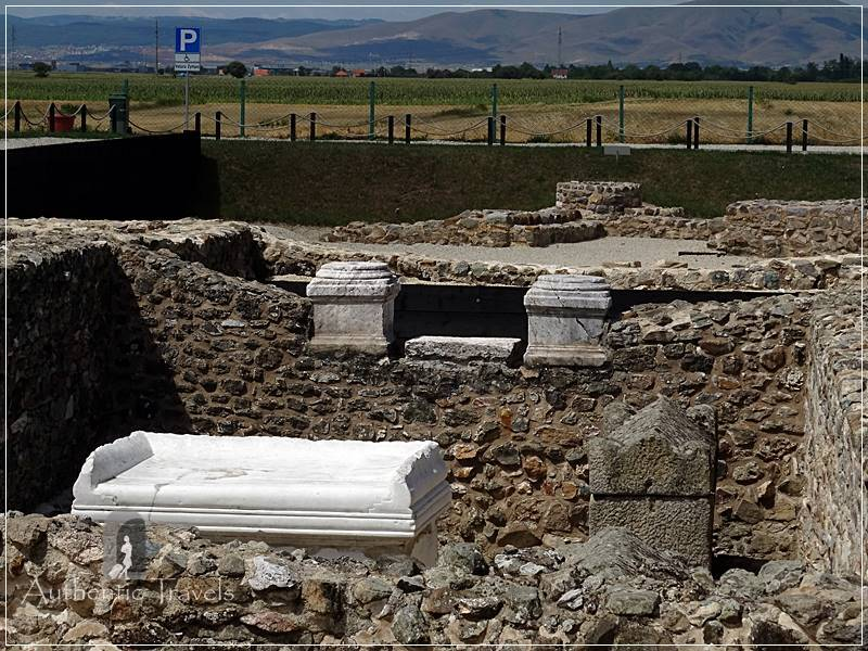 Ulpiana Archeological Site, near Pristina - the memoria (an edifice that served as a collective grave construction)