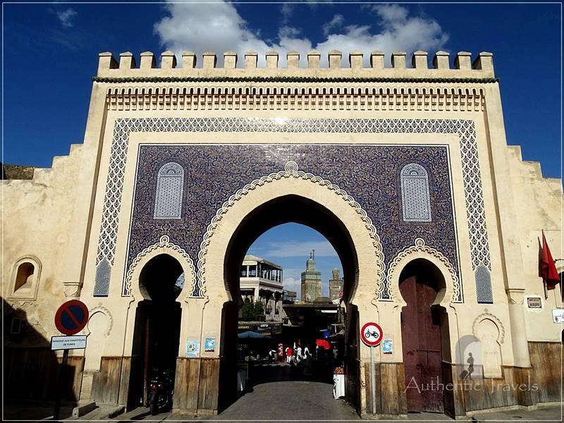 Fes old medina: Bab Bou Jeloud (Blue Gate)