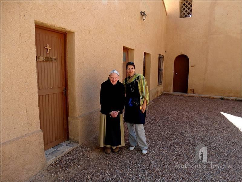 Midelt - Monastery Notre Dame de l'Atlas in the former Kasbah de Myriem: with Pere Jean Pierre.