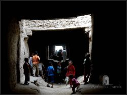 Route du Majhoul in Tafilalt Oases: an 'underground' street, a good playground for children