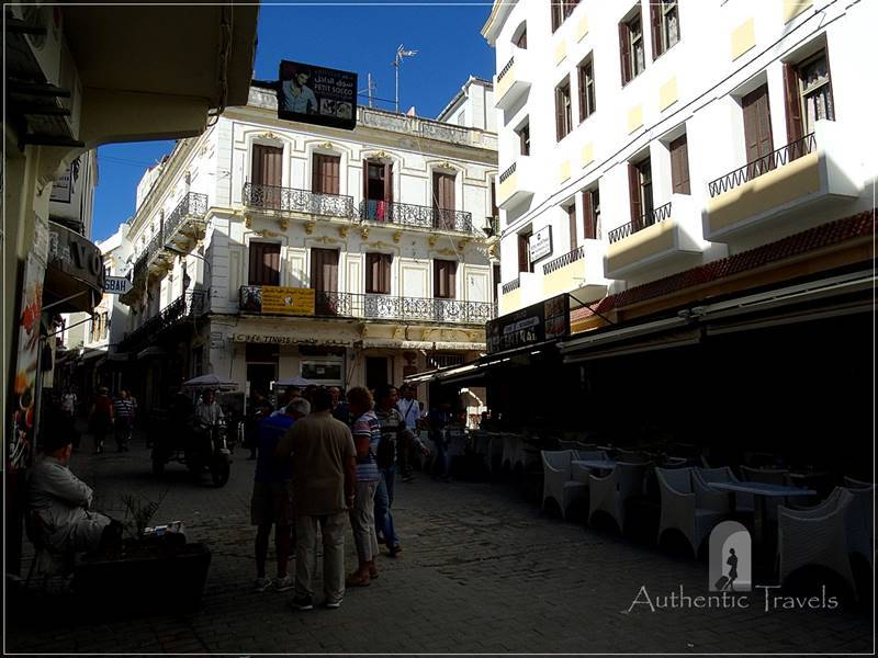 Tangier: the main square or Petit Socco (or Souq Dakel) in the old medina