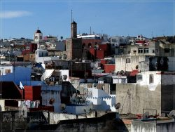 Tangier: view of the old medina from Dar Bargach