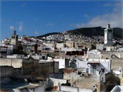 Tetouan: panoramic view of the old medina