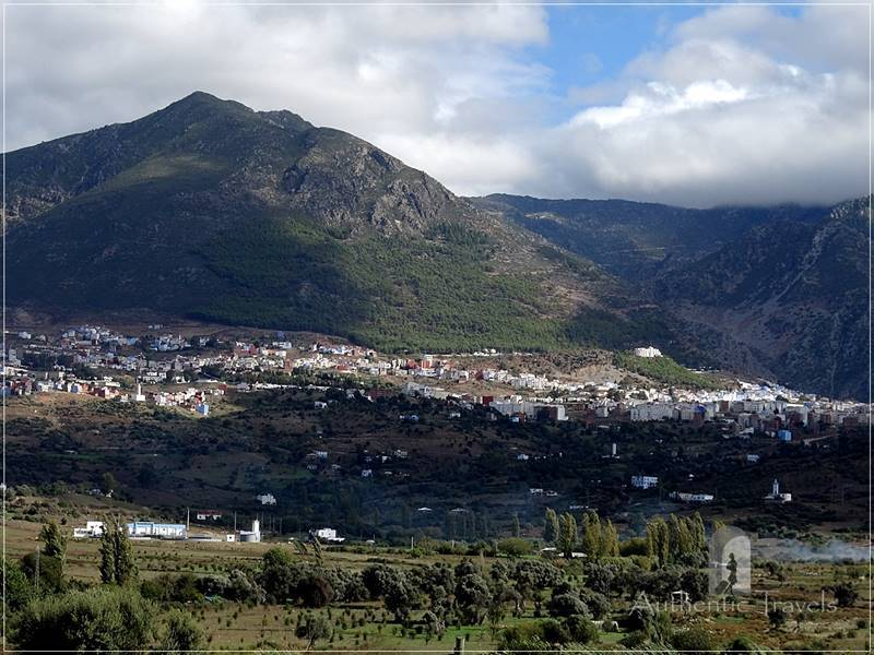 Chefchaouen at the foot of the Rif Mountains