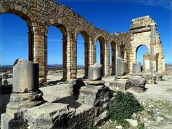 Volubilis - the basilica in the archaeological Roman site