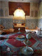 Meknes: Dar Jamai Museum - the traditional salon for the harem (kouba)