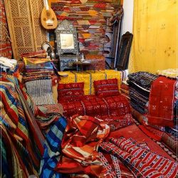 Meknes: the shop from where I bought my Berber kilim